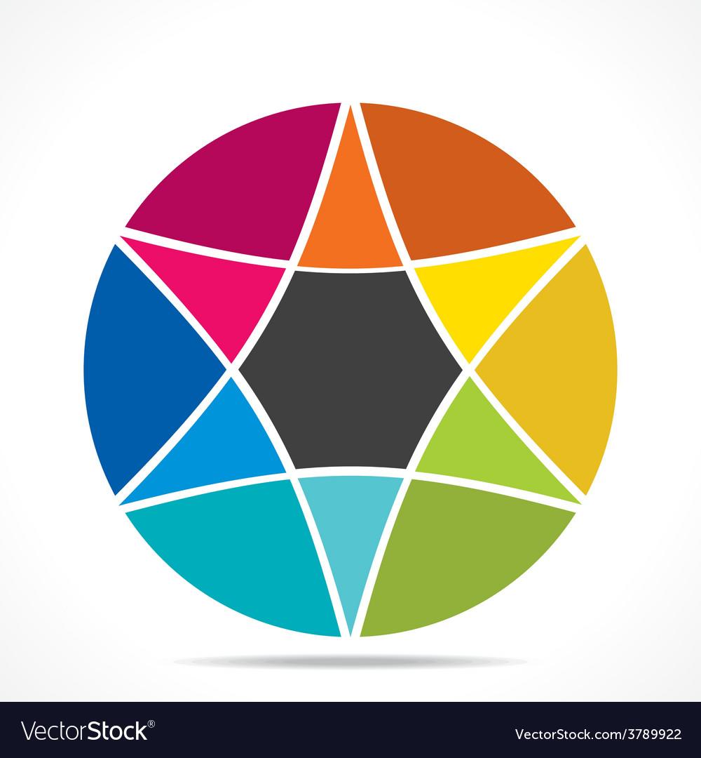 Creative colorful star info-graphics design vector | Price: 1 Credit (USD $1)