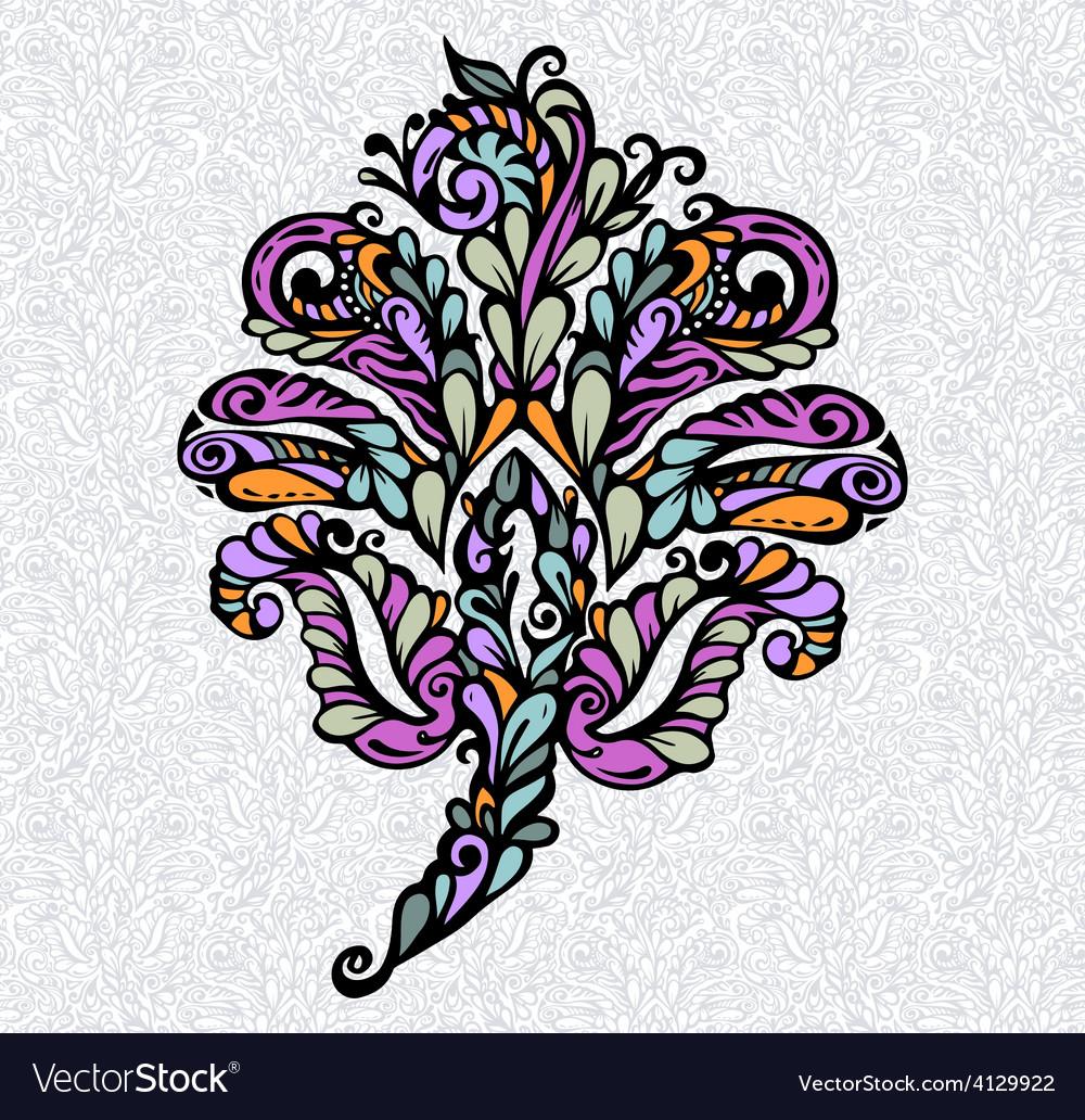 Floral design element renaissance style vector | Price: 1 Credit (USD $1)