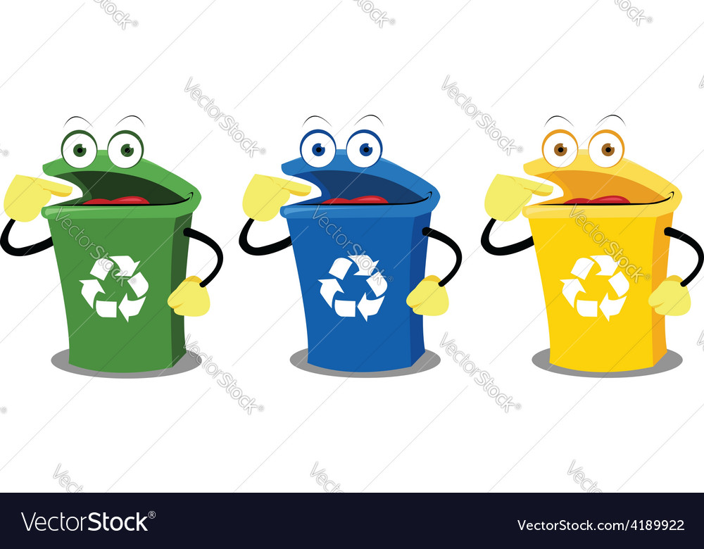 Funny recycling boxes vector | Price: 1 Credit (USD $1)