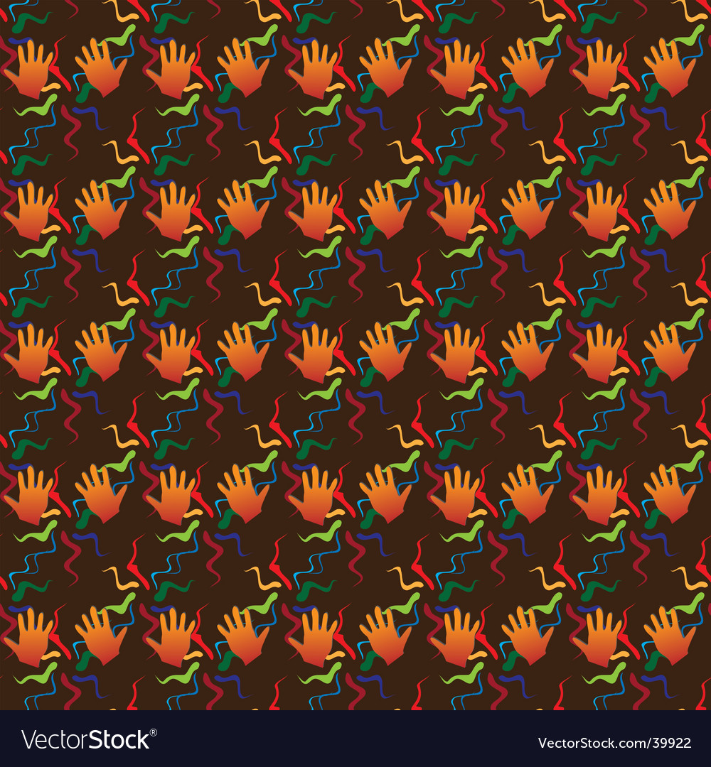 Hand seamless background vector | Price: 1 Credit (USD $1)