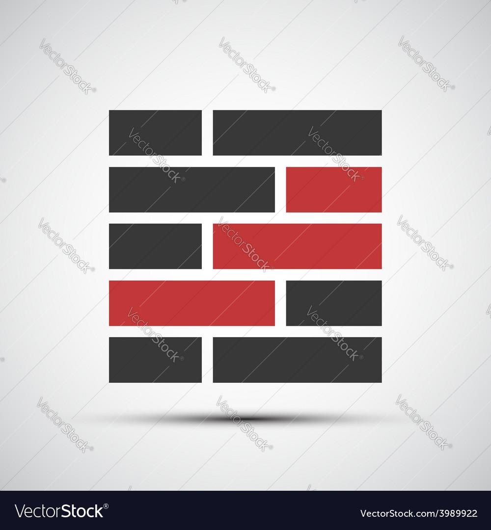 Icons brickwork vector | Price: 1 Credit (USD $1)