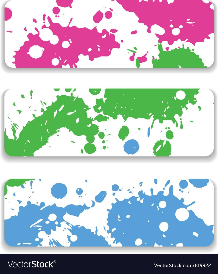 Ink splash banner set vector | Price: 1 Credit (USD $1)
