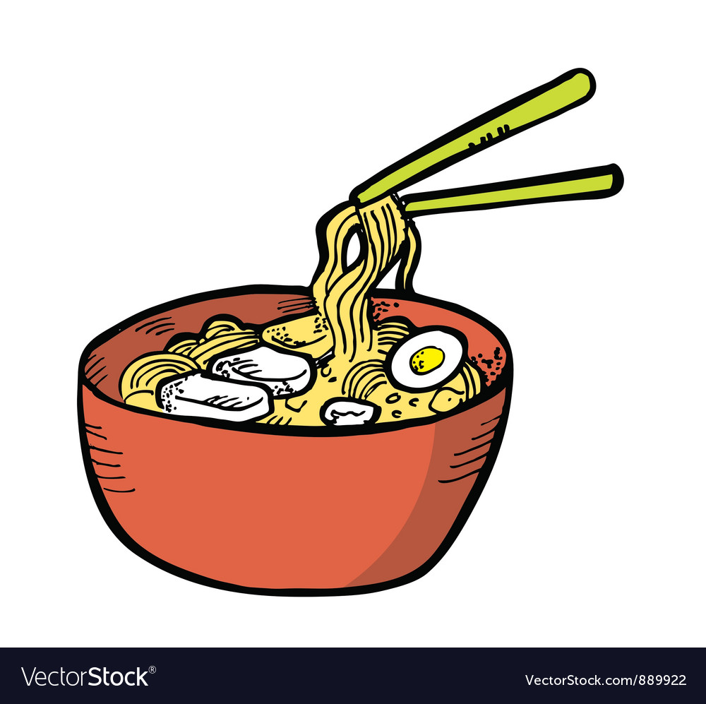 Japanese noodles vector | Price: 1 Credit (USD $1)