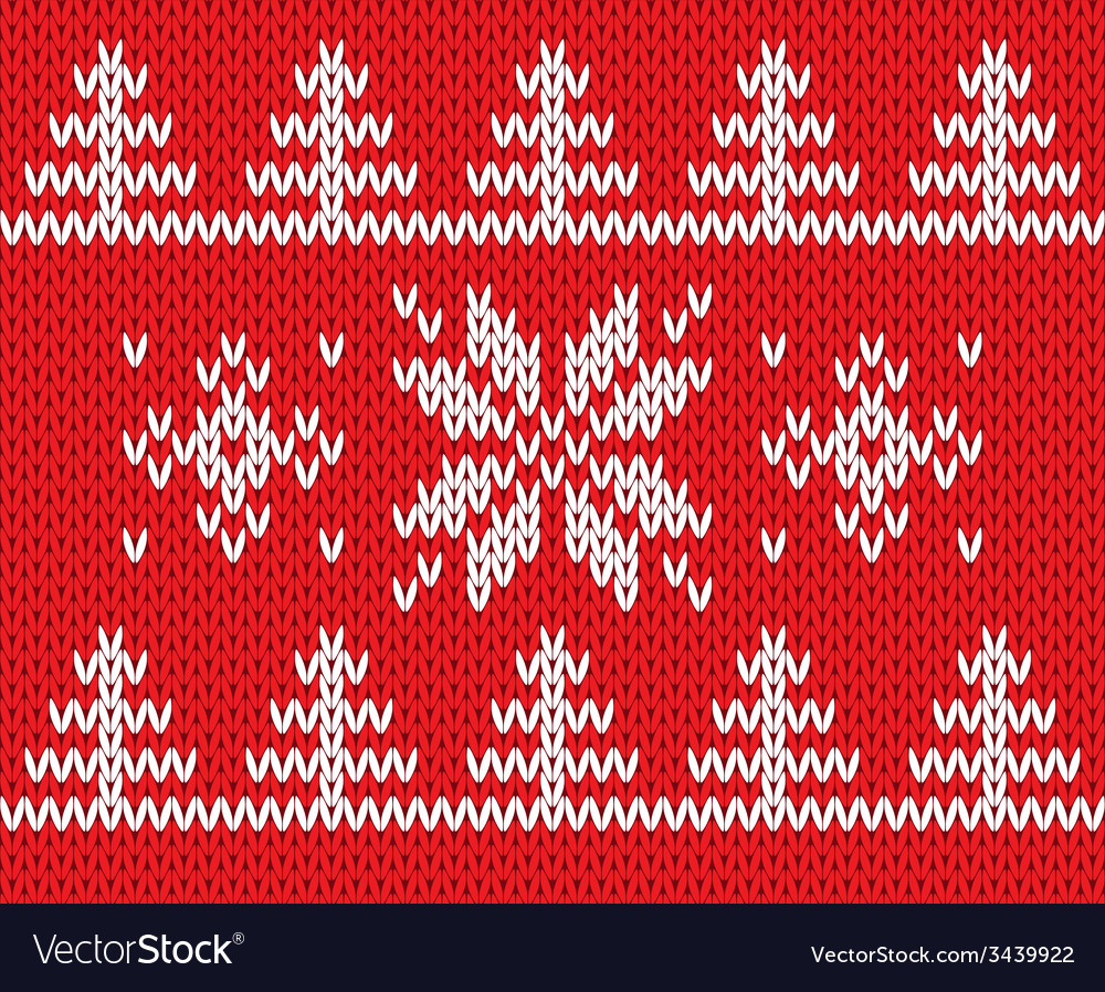 Knitted holiday pattern vector | Price: 1 Credit (USD $1)