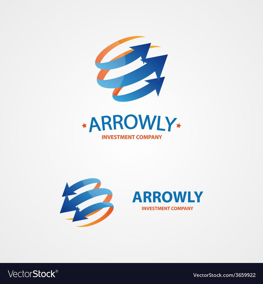 Logo design element arrow scope circle vector | Price: 1 Credit (USD $1)