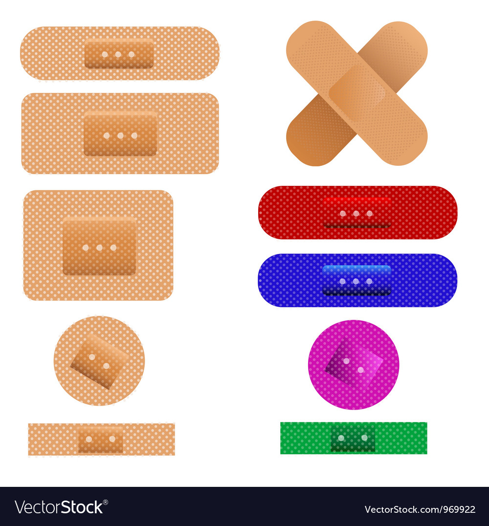 Medical plaster bandages vector | Price: 1 Credit (USD $1)