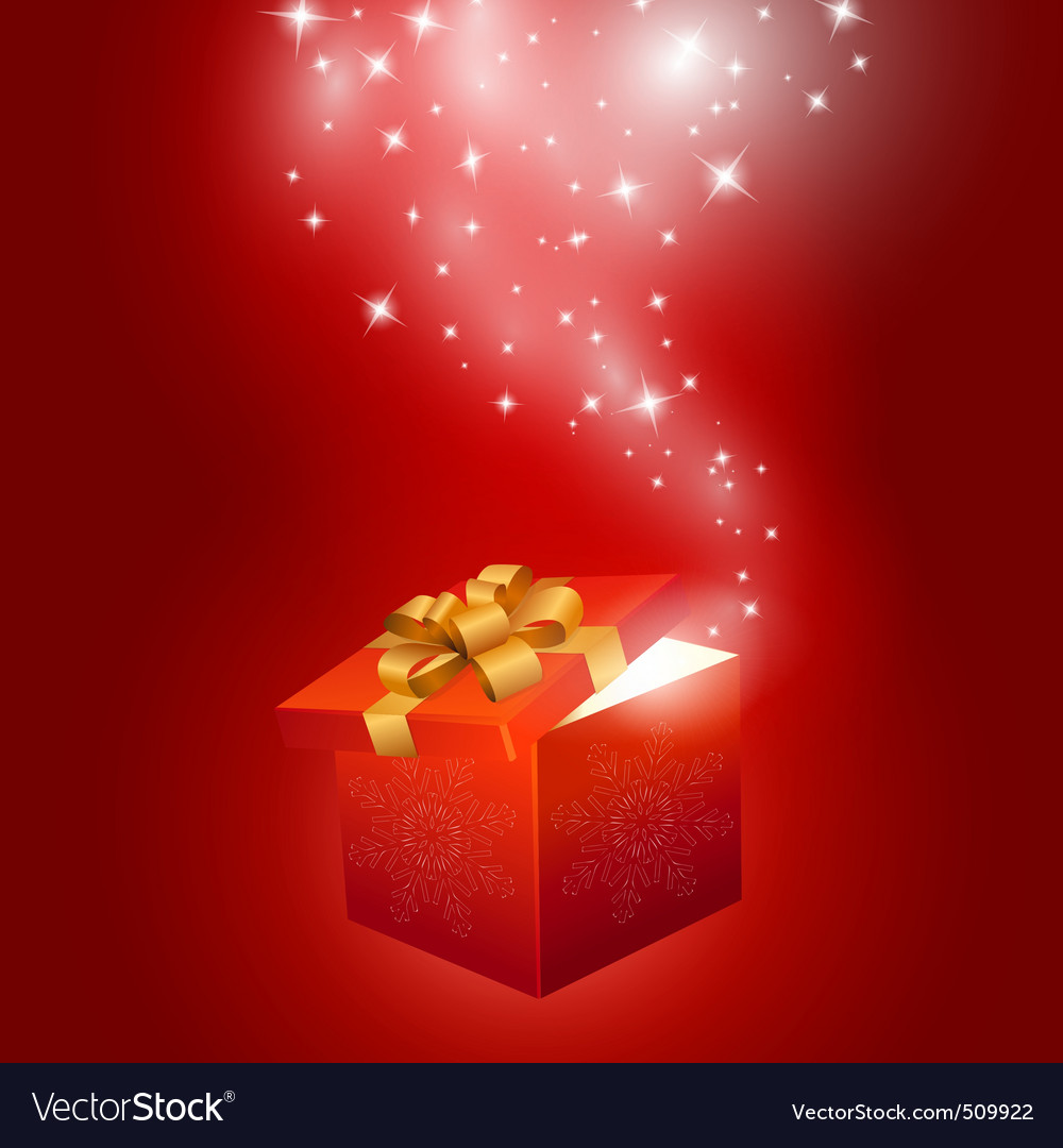 Red gift box abstract background vector | Price: 1 Credit (USD $1)