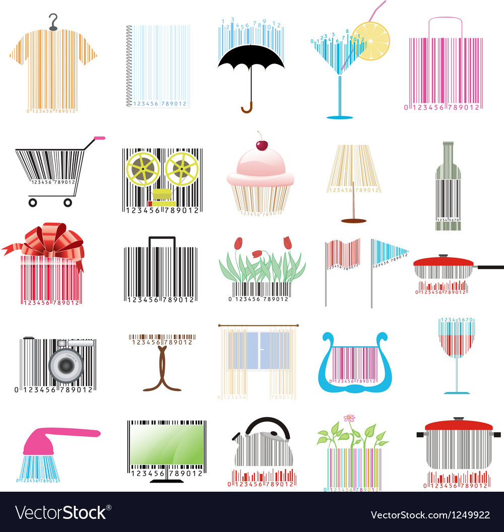 Set of stylized barcodes vector | Price: 1 Credit (USD $1)