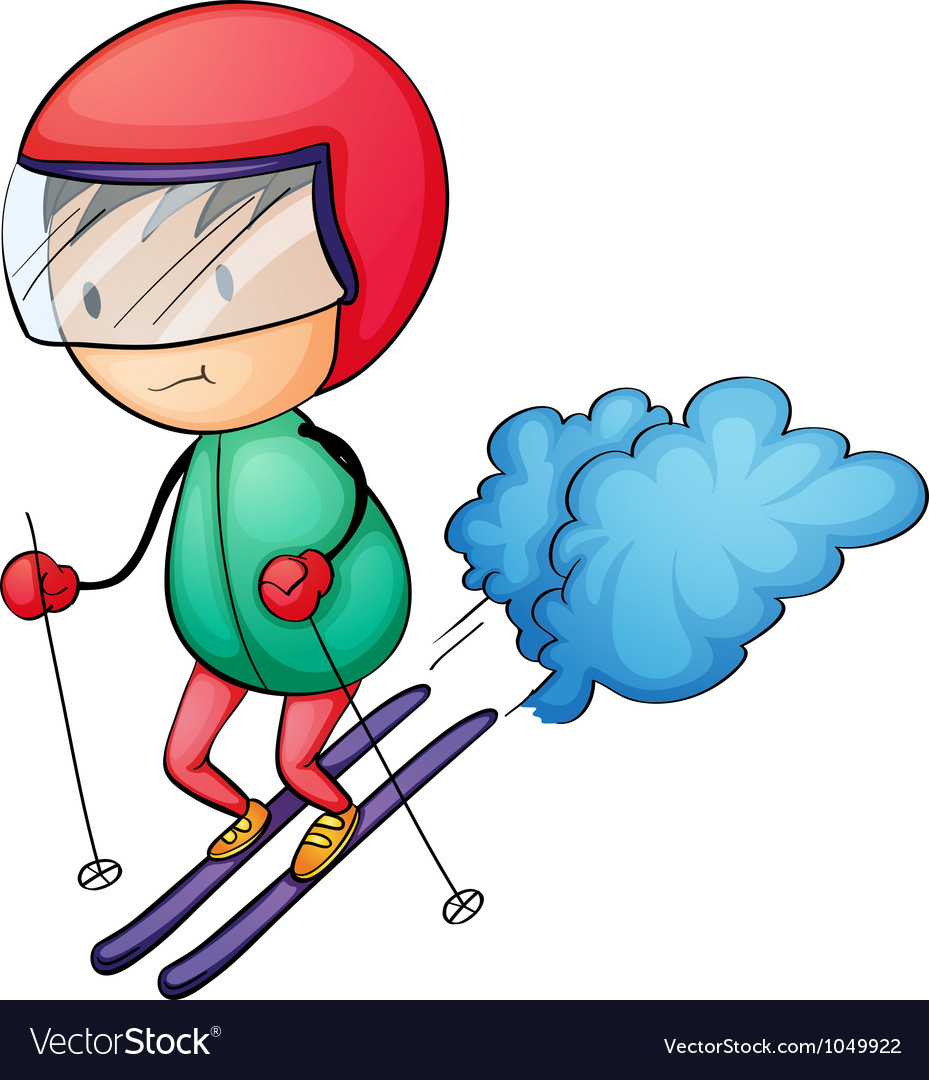 Ski boy vector | Price: 1 Credit (USD $1)