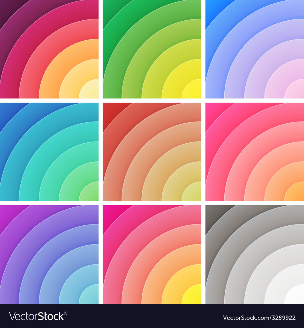 Trendy backgrounds pack of colorful gradients vector | Price: 1 Credit (USD $1)