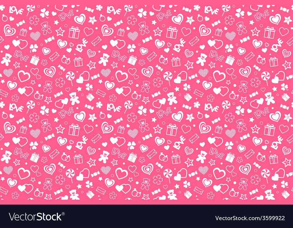 Valentine pattern vector | Price: 1 Credit (USD $1)