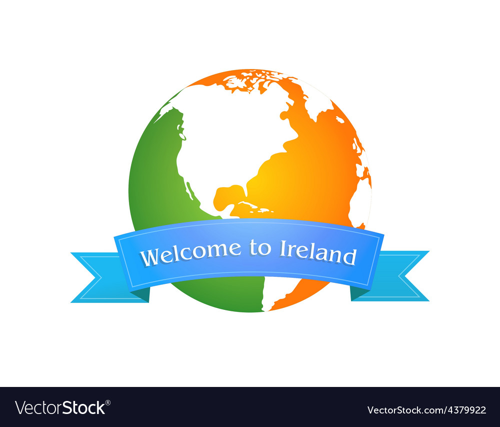 Welcome to ireland vector