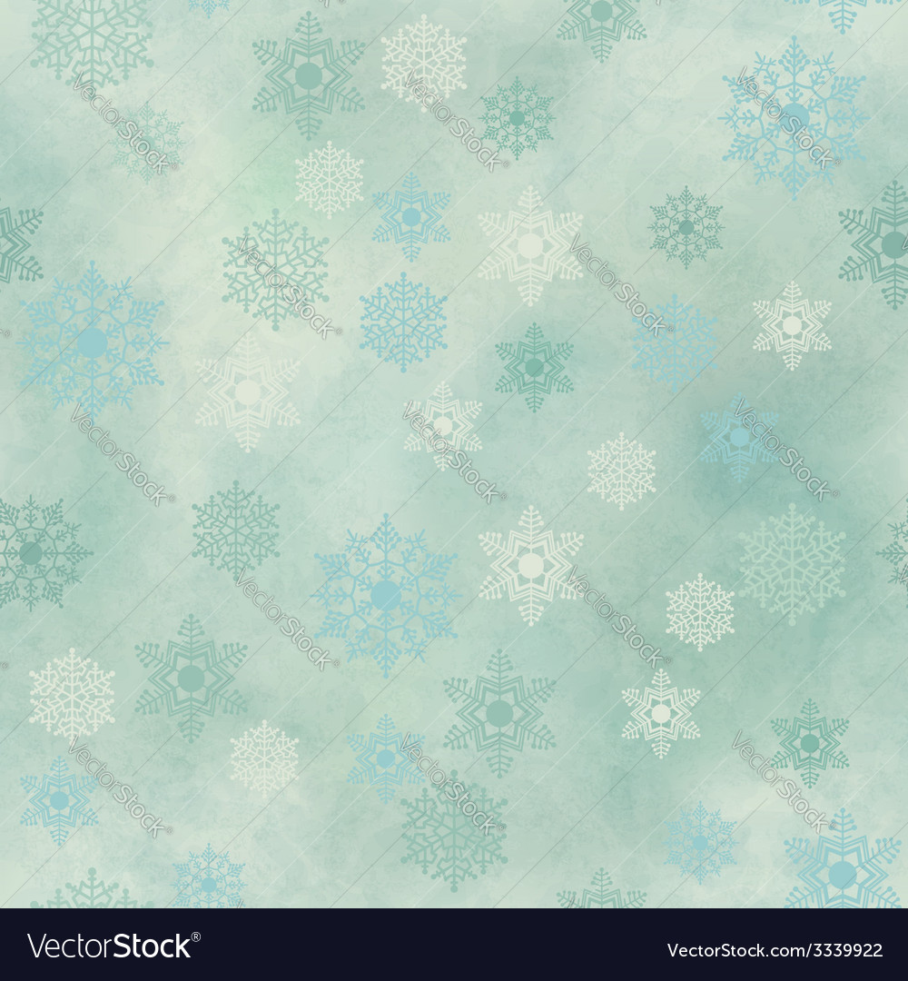 Wrapping vintage paper snowflake seamless pattern vector | Price: 1 Credit (USD $1)