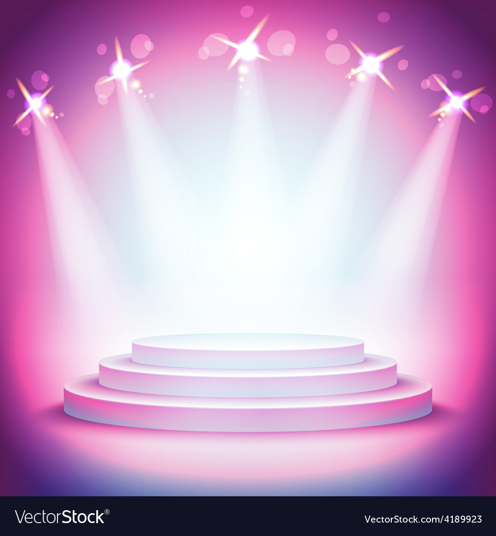 Background lights over pedestal your business vector | Price: 1 Credit (USD $1)