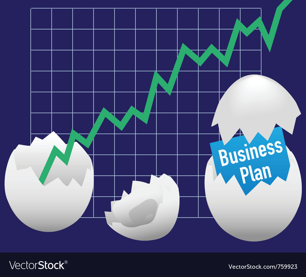 Business eggs hatch vector | Price: 1 Credit (USD $1)