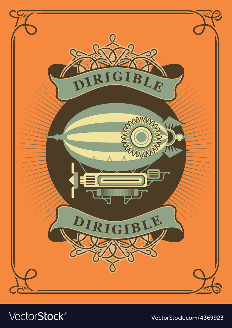 Dirigible vector | Price: 3 Credit (USD $3)