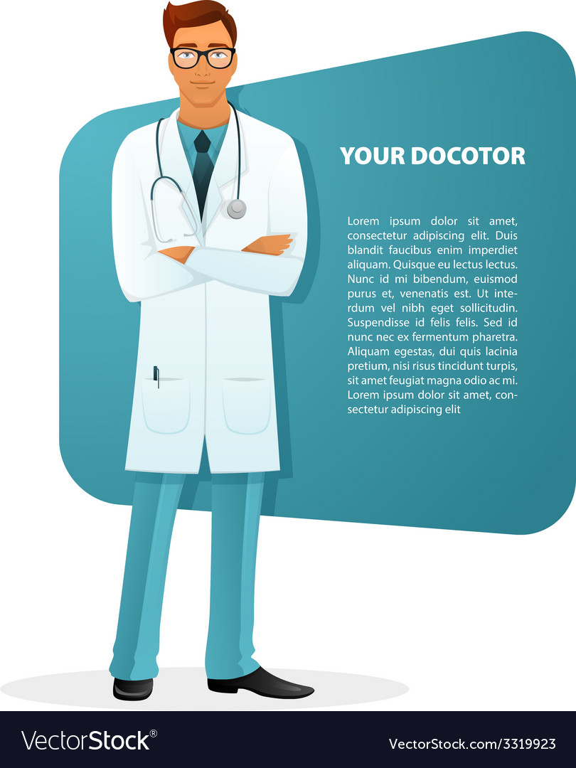 Doctor character man image vector | Price: 3 Credit (USD $3)