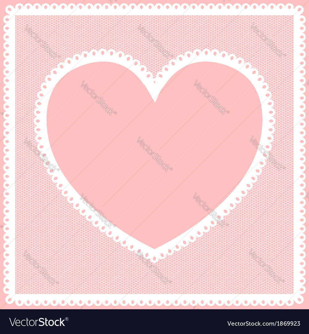Lacy heart frame vector | Price: 1 Credit (USD $1)