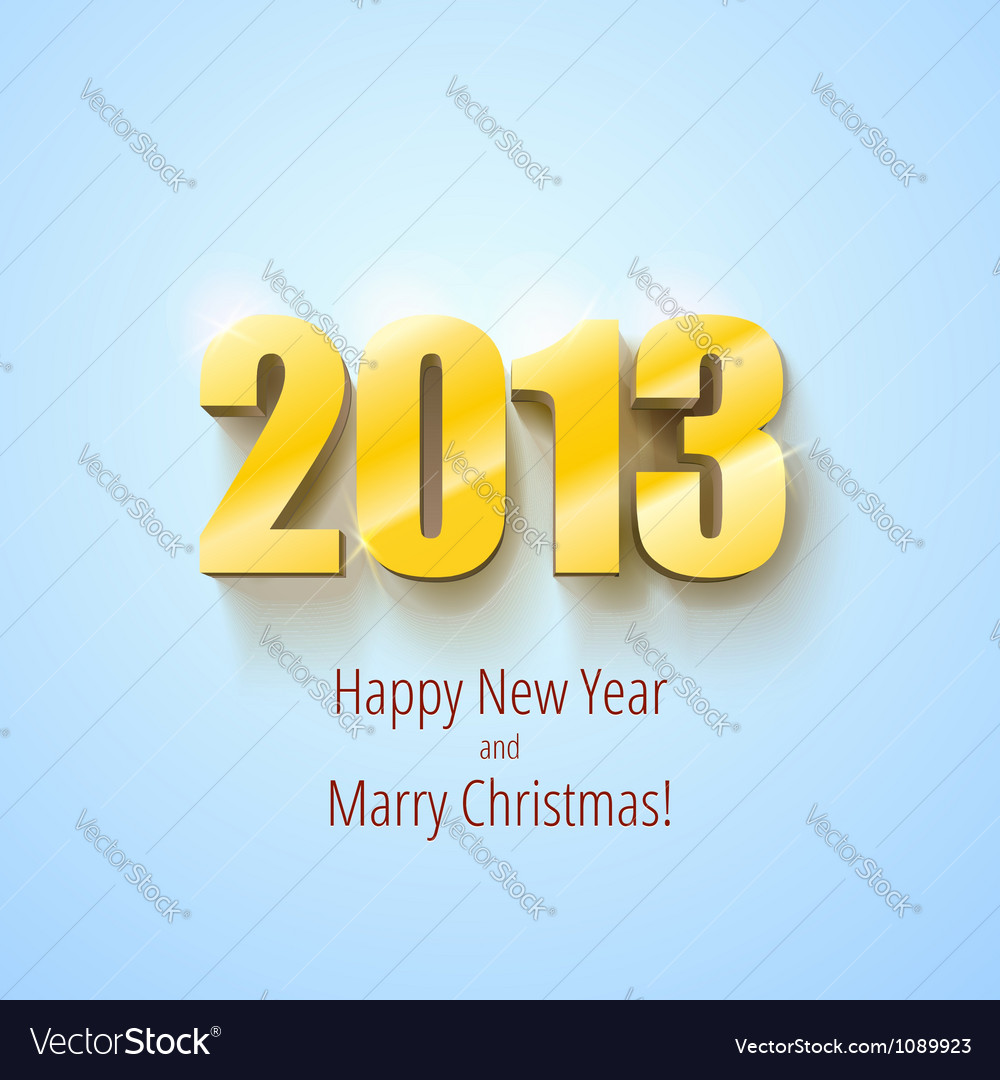 New year 2013 background gold numbers vector | Price: 1 Credit (USD $1)