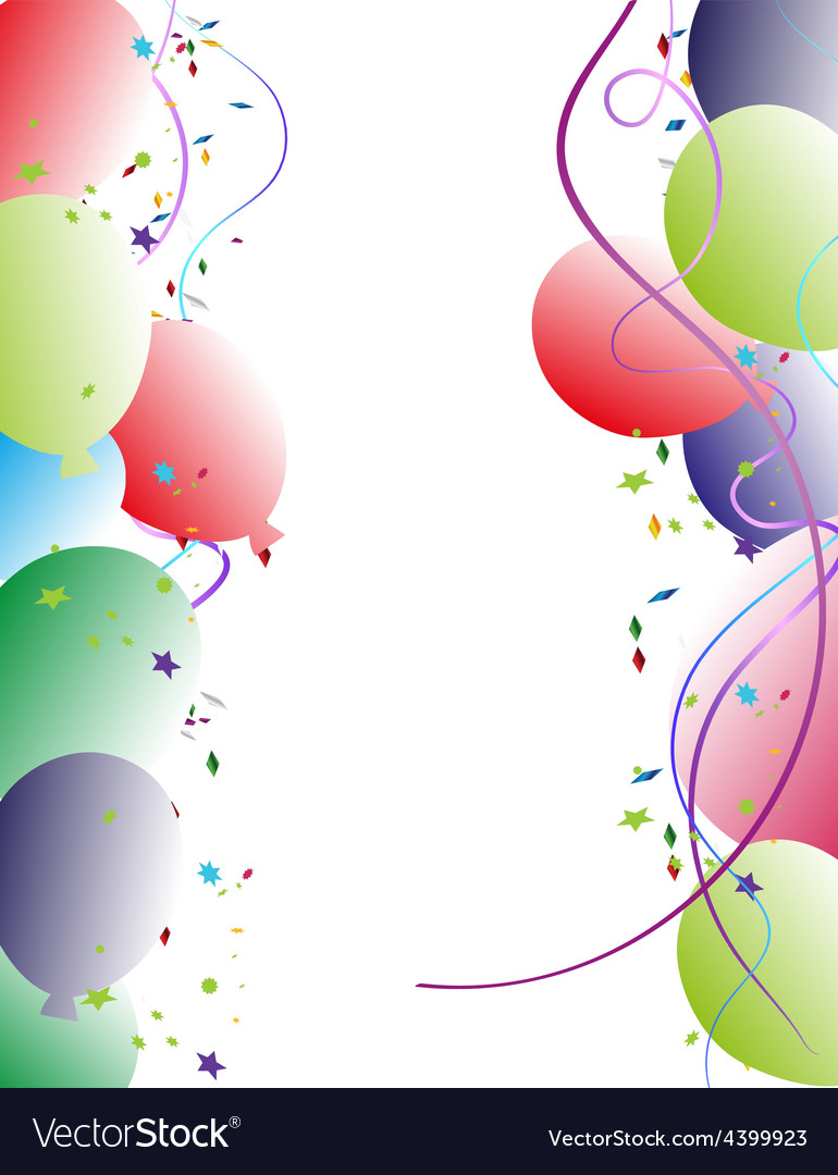 Party balloon frame vector | Price: 1 Credit (USD $1)
