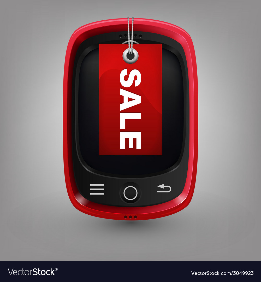 Red phone with labal sale vector   Price: 1 Credit (USD $1)