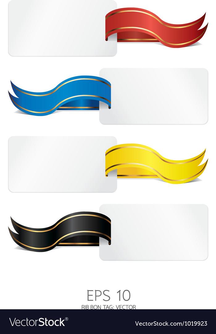 Ribbon tag vector | Price: 1 Credit (USD $1)