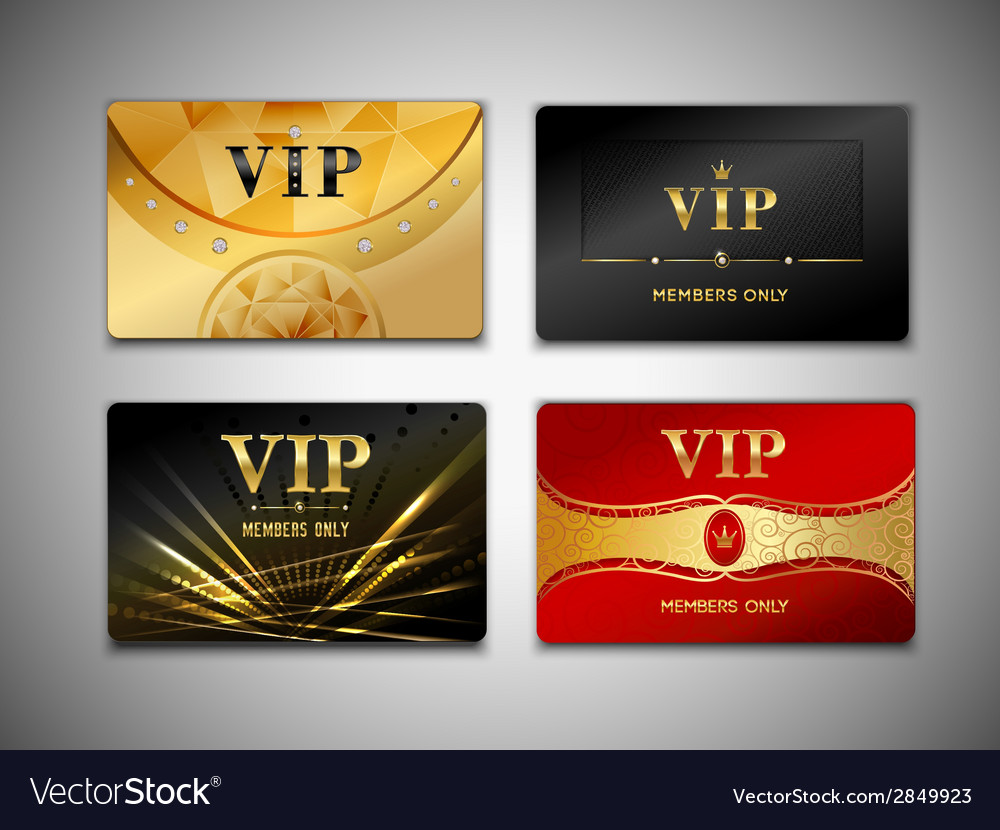 Small vip cards design set vector | Price: 1 Credit (USD $1)