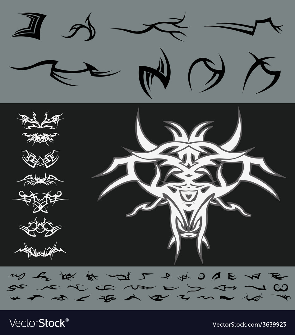 Tribal diy design pack vector | Price: 1 Credit (USD $1)