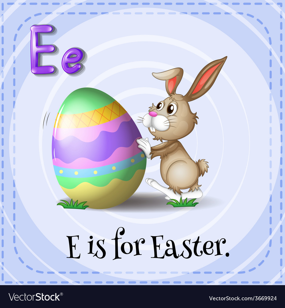 A letter e for easter vector | Price: 1 Credit (USD $1)