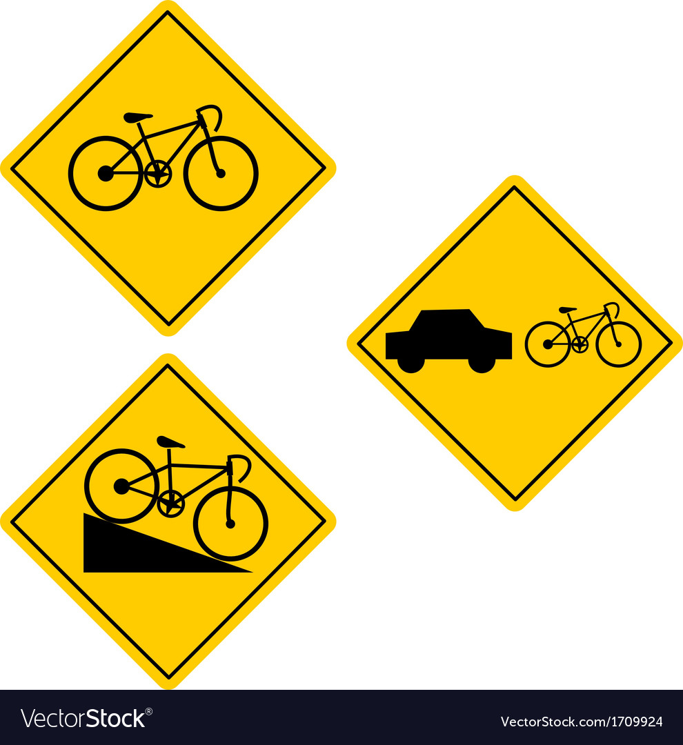 Bicycle road sign symbol vector | Price: 1 Credit (USD $1)