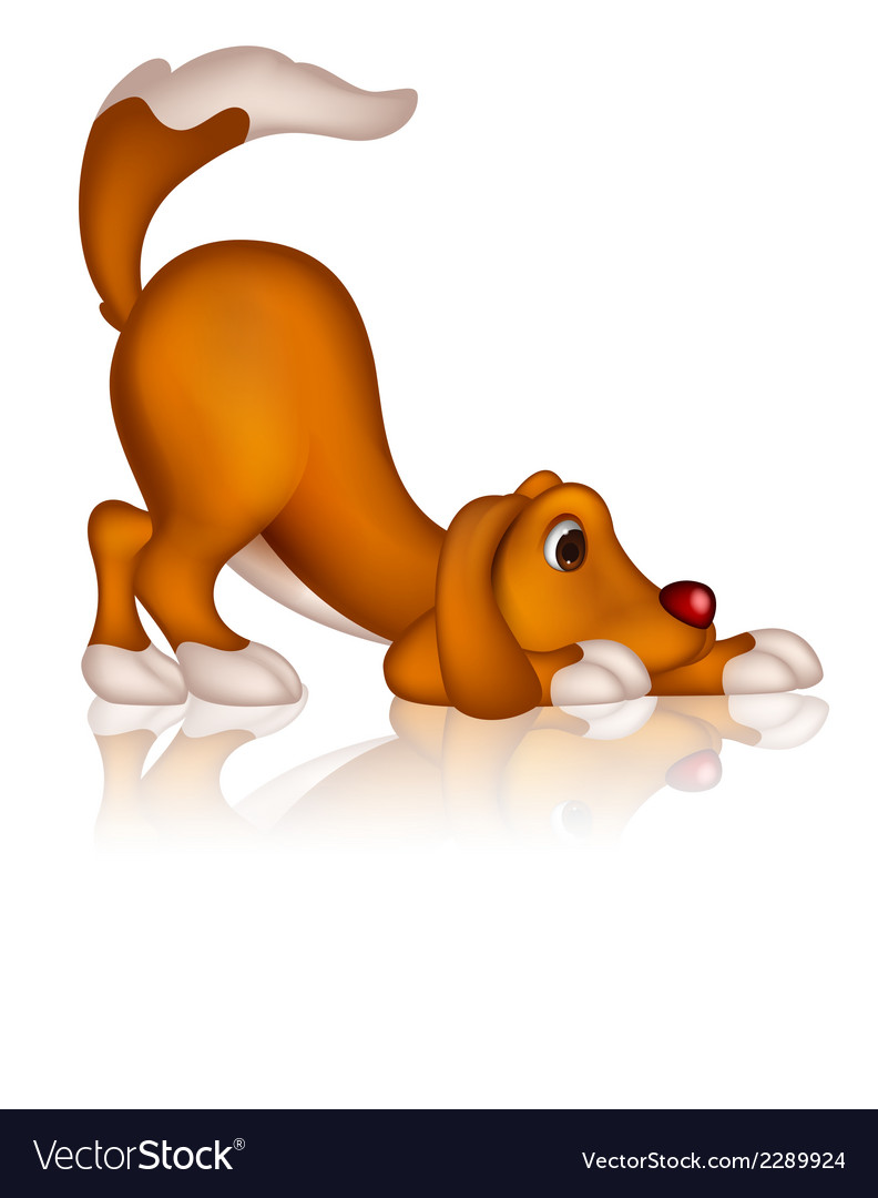 Cute dog cartoon posing vector | Price: 1 Credit (USD $1)