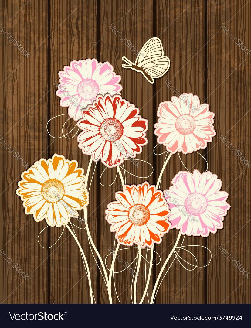 Decorative floral background vector   Price: 1 Credit (USD $1)