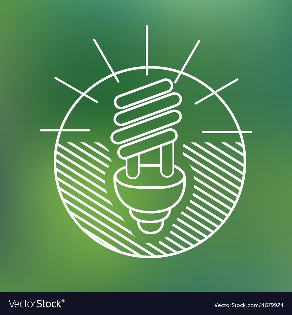 Energy saving spiral eco lamp fluorescent light vector | Price: 1 Credit (USD $1)