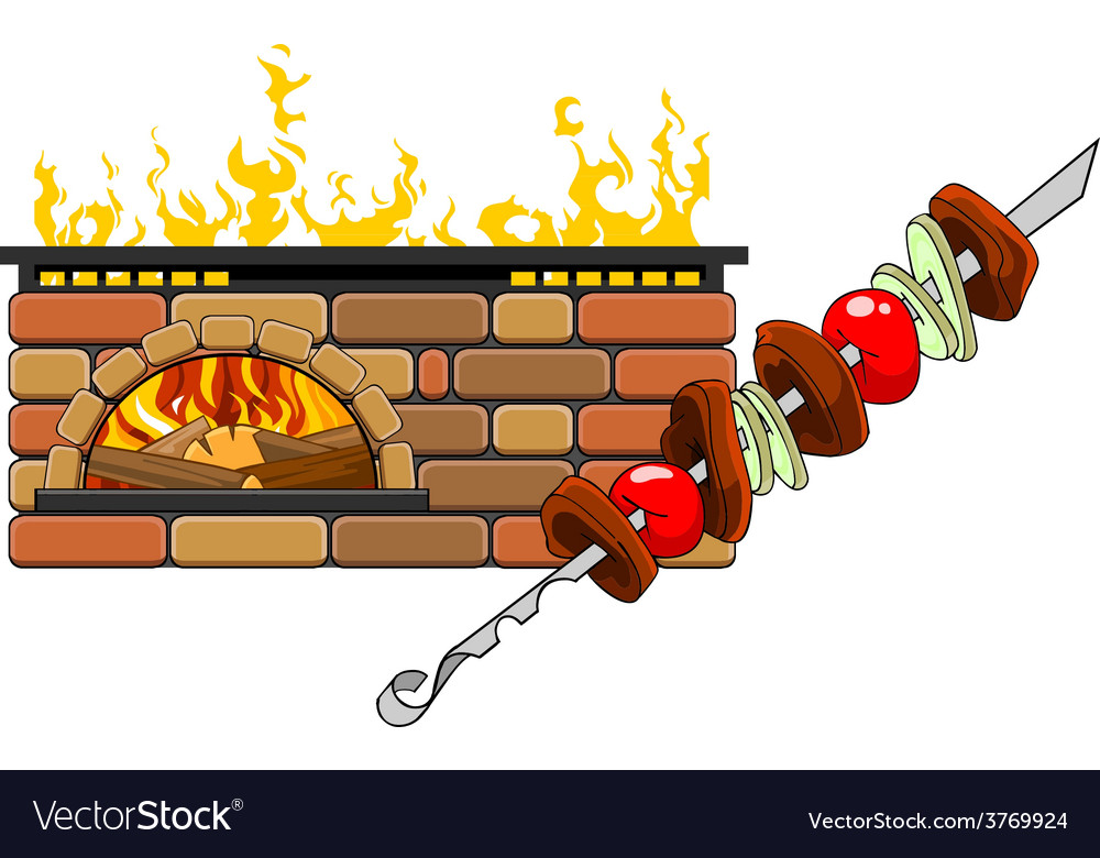 Fireplace and barbecue vector | Price: 1 Credit (USD $1)