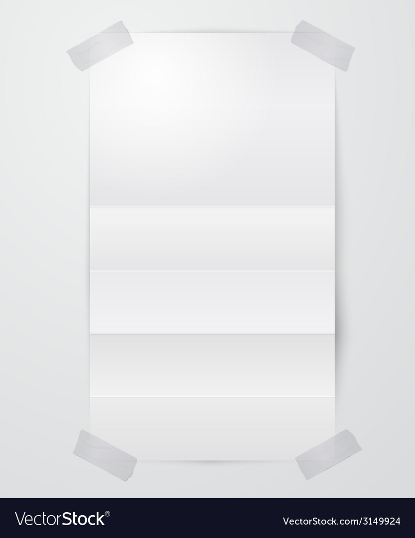 Folded paper sheet with scotch tape vector | Price: 1 Credit (USD $1)