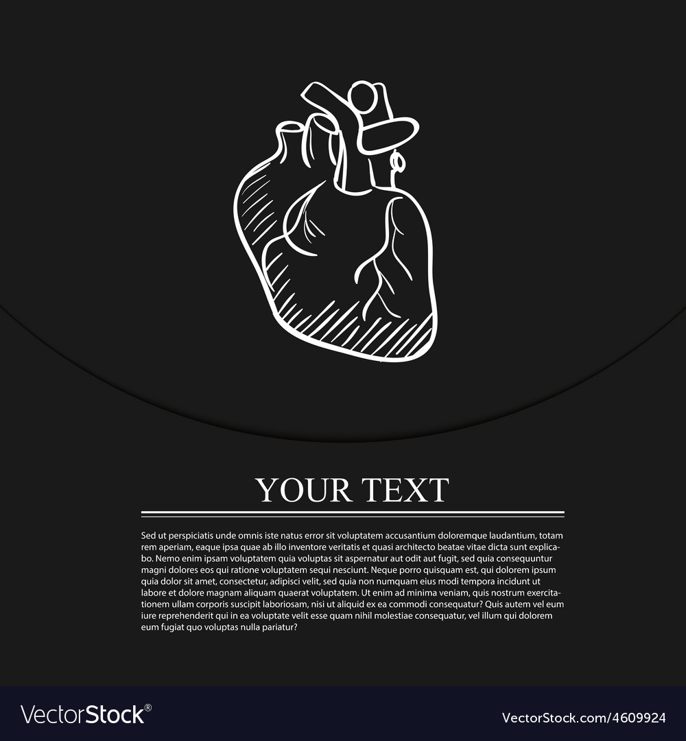Heart doodle drawing medical background vector | Price: 1 Credit (USD $1)