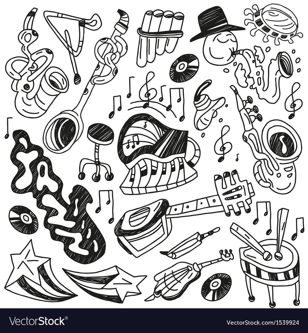 Jazz doodles vector | Price: 1 Credit (USD $1)