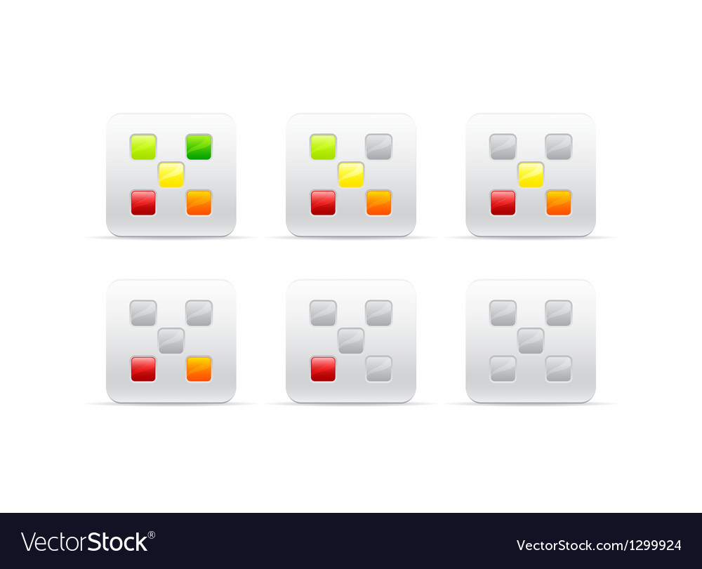 Rating with five different color squares vector | Price: 1 Credit (USD $1)