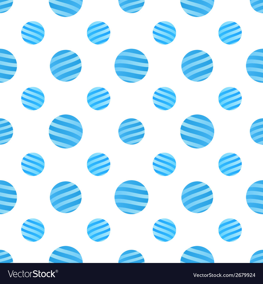 Seamless blue dots pattern on white background vector | Price: 1 Credit (USD $1)