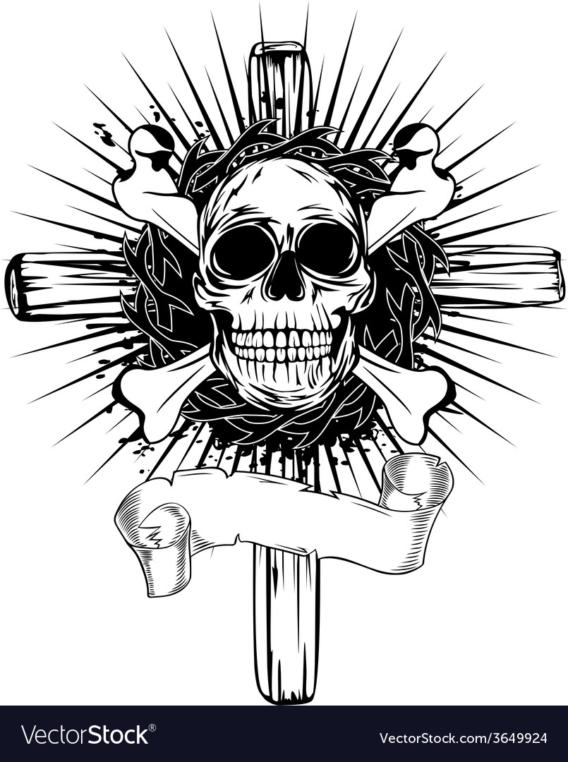 Skull cross vector | Price: 1 Credit (USD $1)