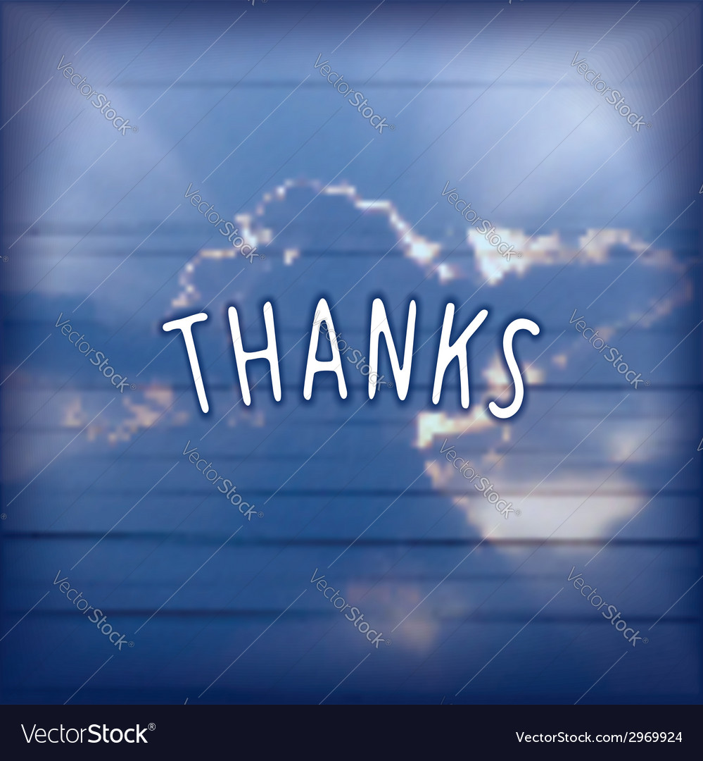 Thanks - creative lettering design vector | Price: 1 Credit (USD $1)