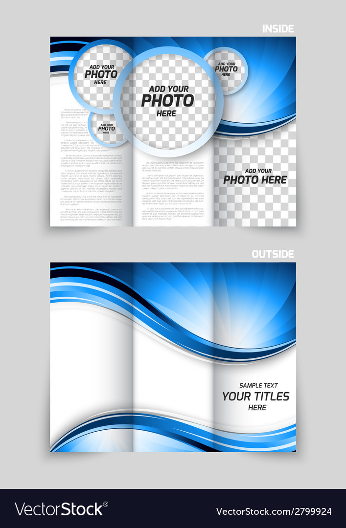 Tri-fold brochure design vector | Price: 1 Credit (USD $1)