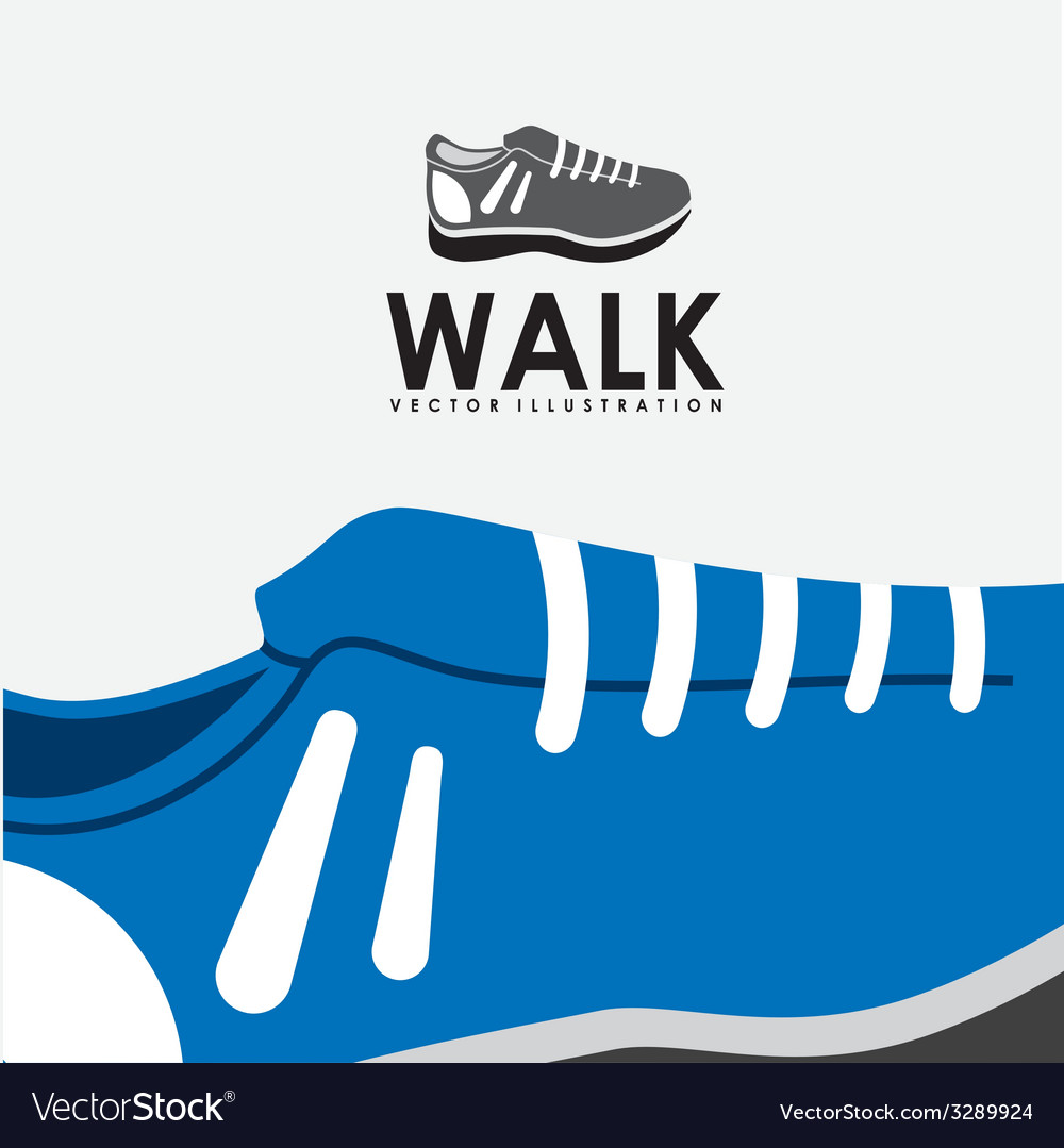 Walk design vector | Price: 1 Credit (USD $1)