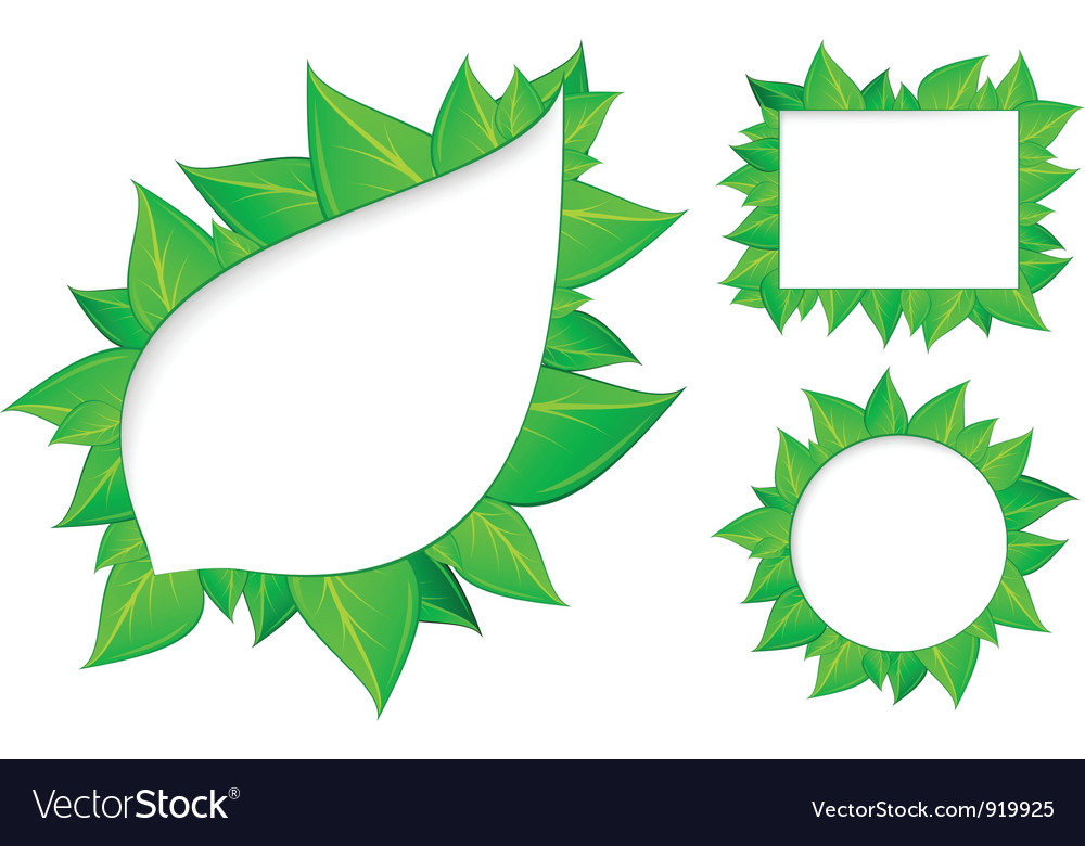 Abstract fresh green leaves vector | Price: 1 Credit (USD $1)