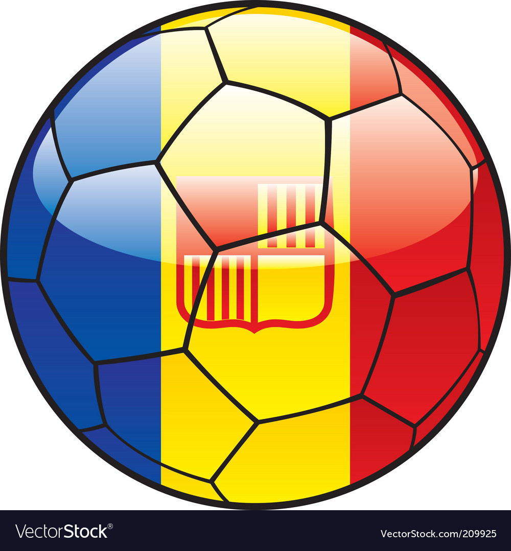 Andorra flag on soccer ball vector | Price: 1 Credit (USD $1)
