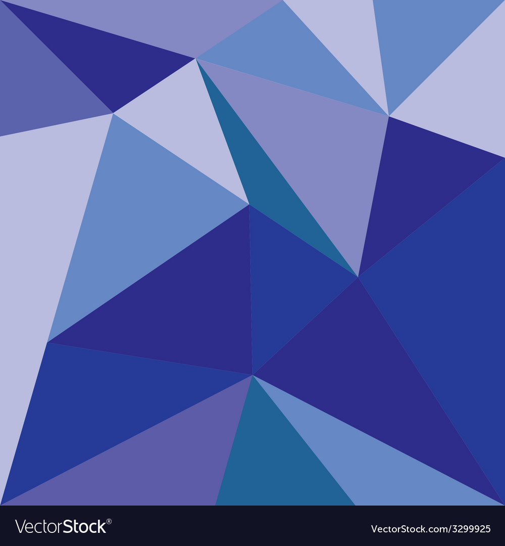 Blue triangle flat wrapping surface background vector | Price: 1 Credit (USD $1)