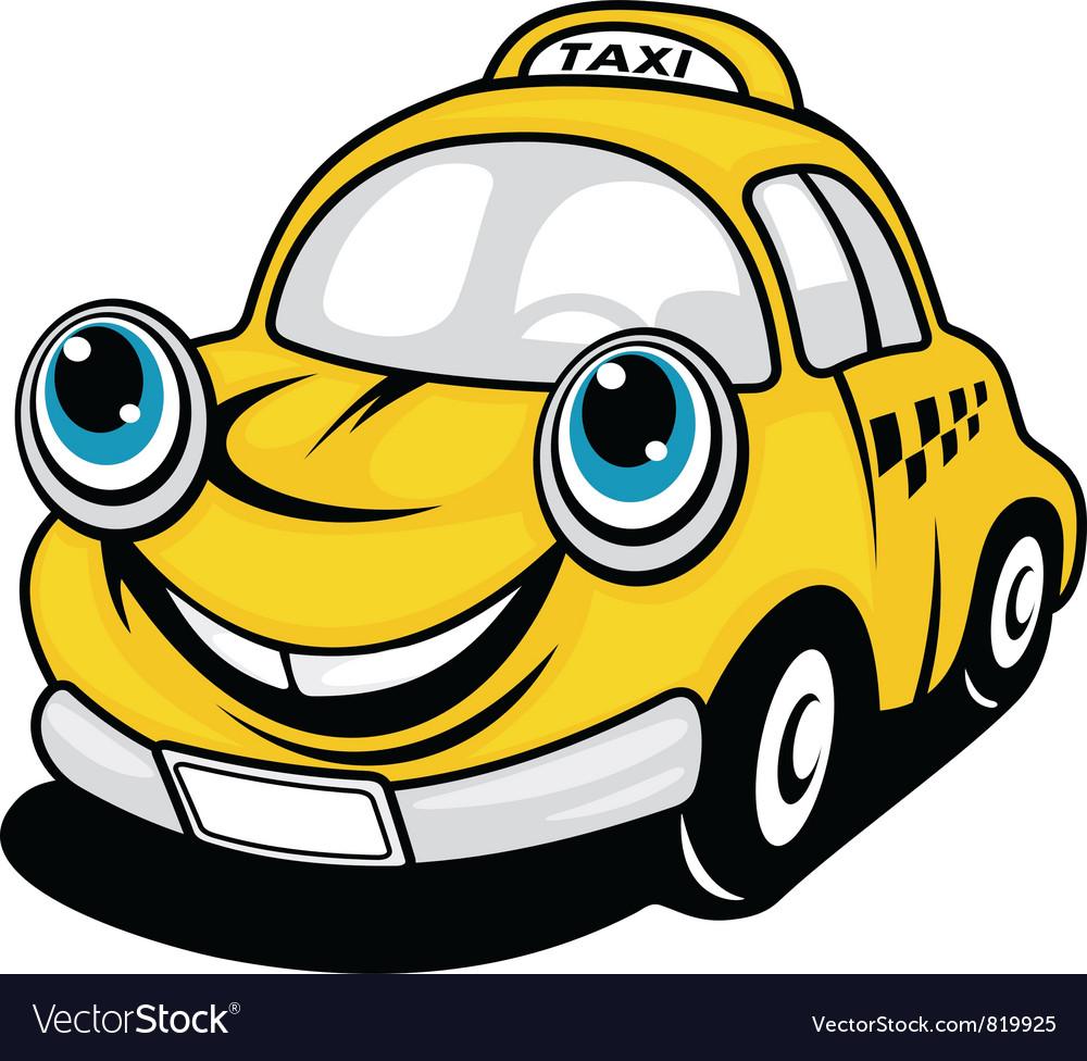 Cartoon taxi vector | Price: 1 Credit (USD $1)