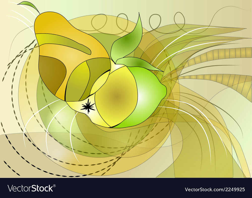 Fruit abstract vector | Price: 1 Credit (USD $1)