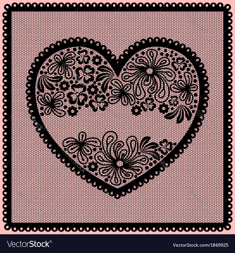 Lacy heart vector | Price: 1 Credit (USD $1)
