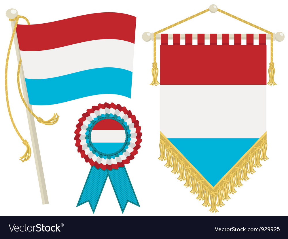 Luxembourg flags vector | Price: 1 Credit (USD $1)